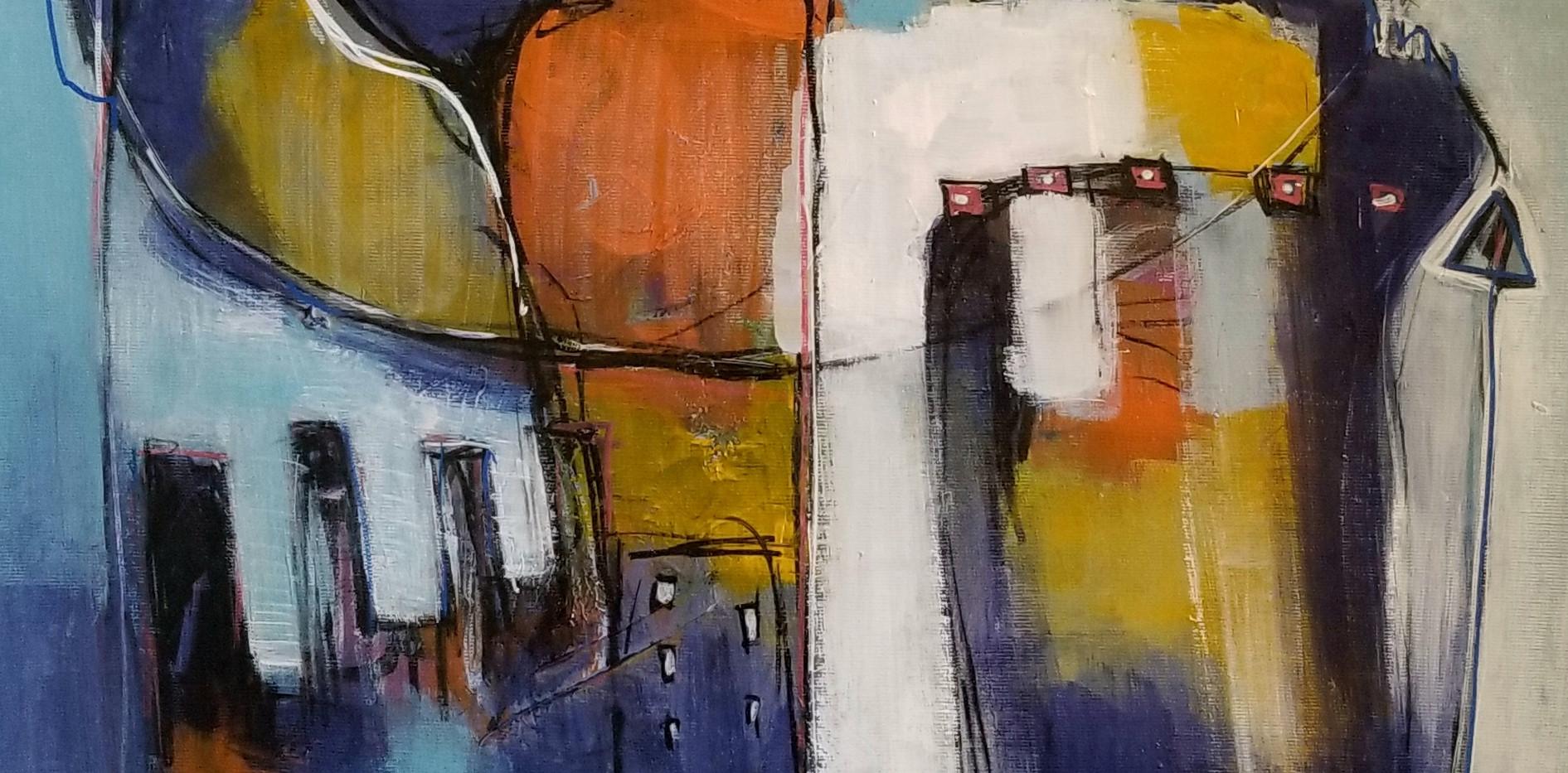 Les hommes de couleurs - 92x47 Acrylique