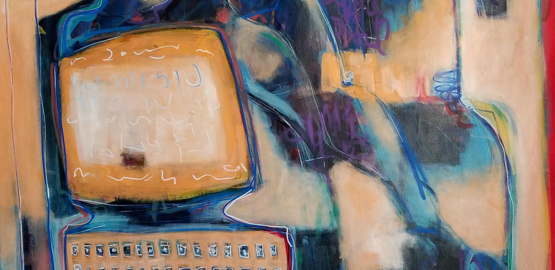 L'homme et sa machine - 139x96 Acrylique
