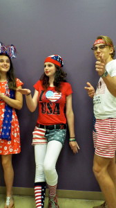 Kailyn, Maggie and Josh sport their red, white & blue for America Day during Spirt Week at CCA.
