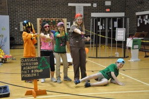 CCA's elementary OM team presented its Long Problem at Regionals.