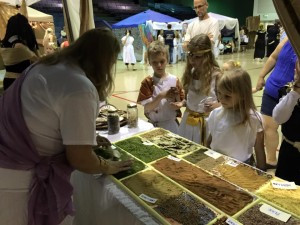 Lower school students get to smell and taste spices in an Egyptian market.