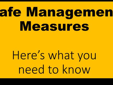 Safe Management Measures Plan restarting our economy