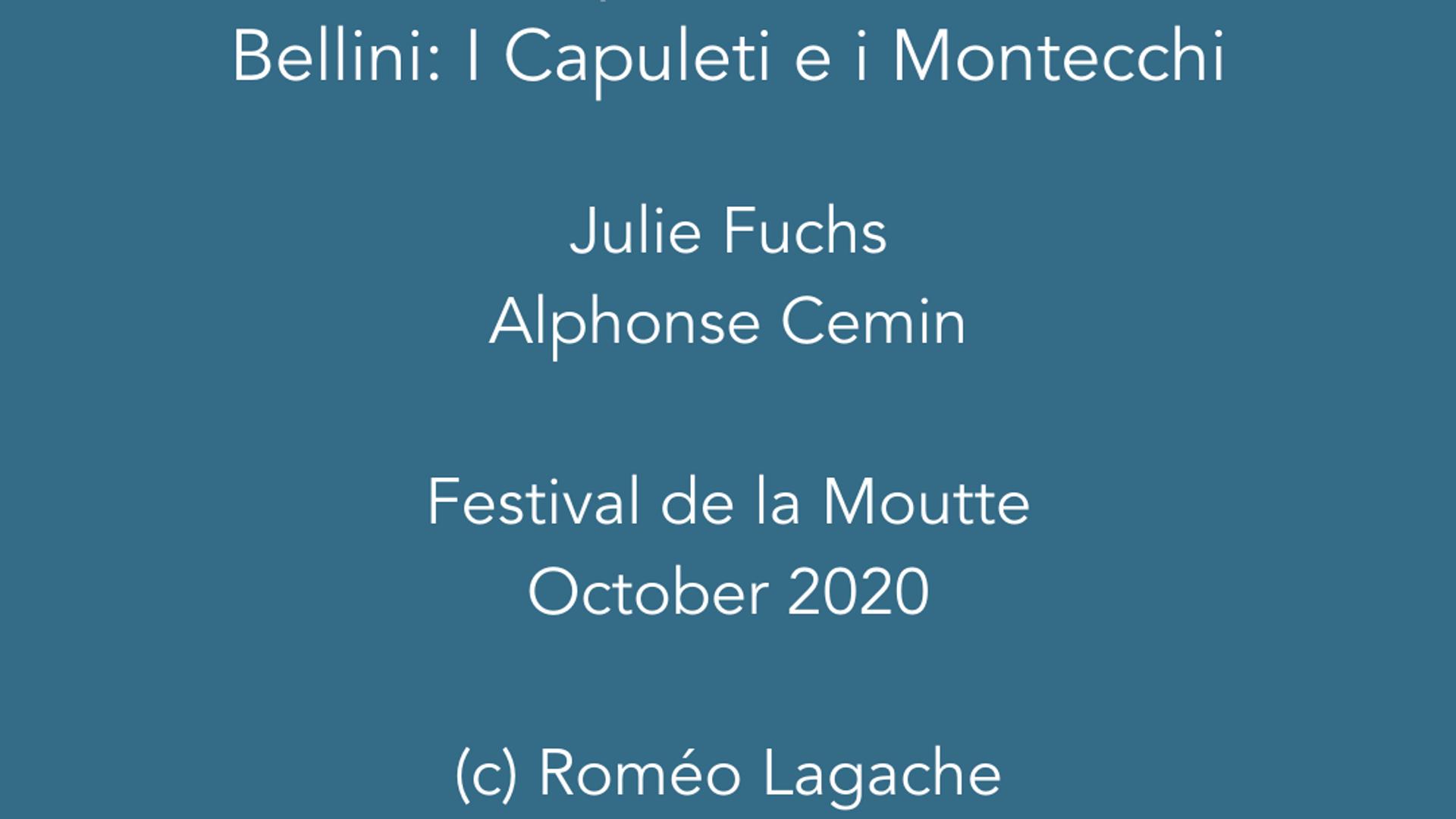 O quante volte from Bellini's 'I Capuleti e i Montecchi'