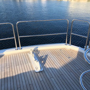 aft deck removable railing.316L  Stainle