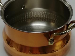 銅鍋使ってみました
