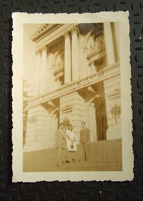 Foto Antiga - Na Escadaria