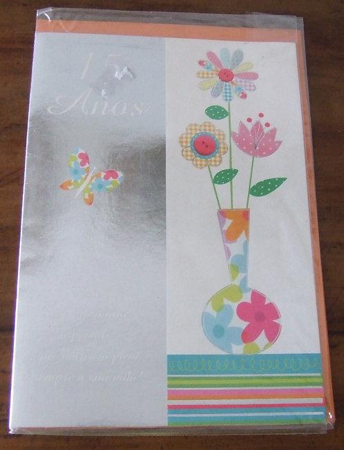 Cartão 15 Anos Flor