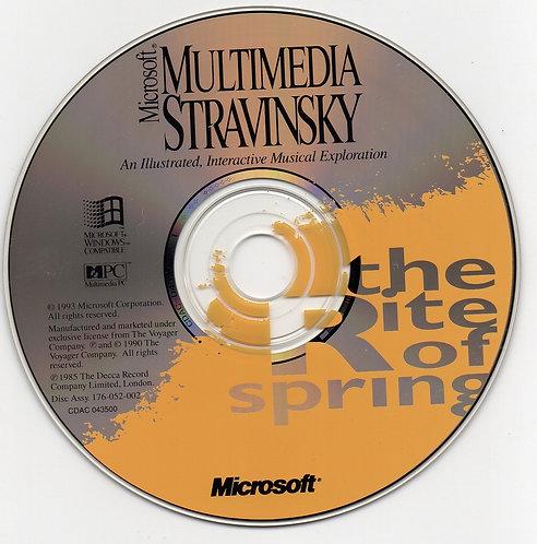 CD- Rom Microsoft Multimedia Stravinsky: The Rite of Spring
