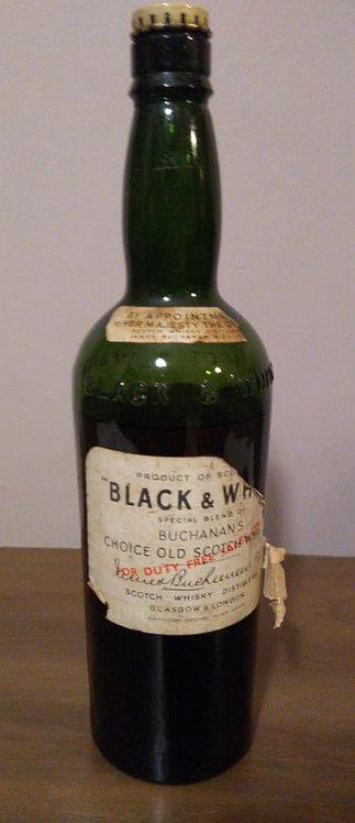 Black & White Blended Scotch Whisky - Buchanan's Old – 1980