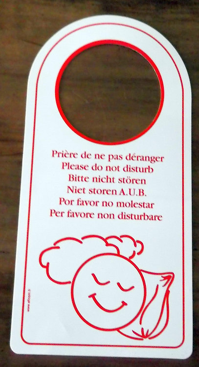 Placa de Hotel Prière de Ne Pas Déranger