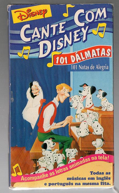 VHS Cante com Disney - 101 Dálmatas - 101 Notas de Alegria