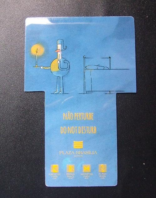 Placa de Hotel Não Perturbe / Arrume o Quarto