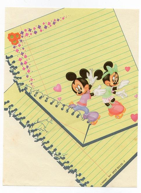 Papel de Carta Antigo Best Cards Disney M&M