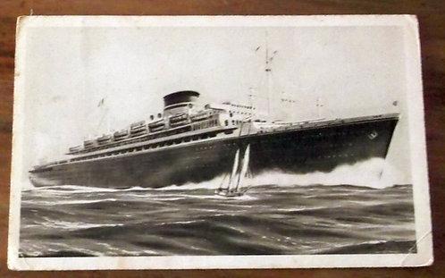 Postal Antigo Navio Neptunia