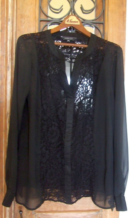 Blusa Yessica City Black Lace