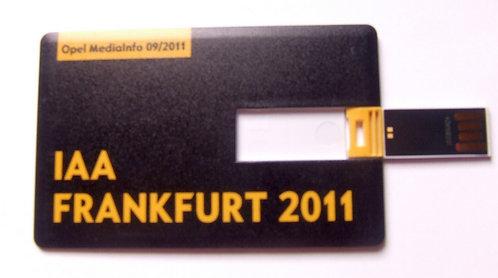 Pen Drive Cartão Opel - Salão Internacional do Automóvel Frankfurt 2011