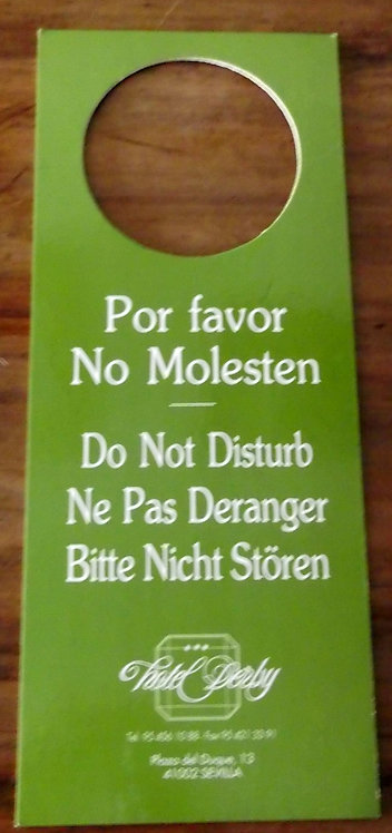 Placa de Hotel Por Favor No Molesten