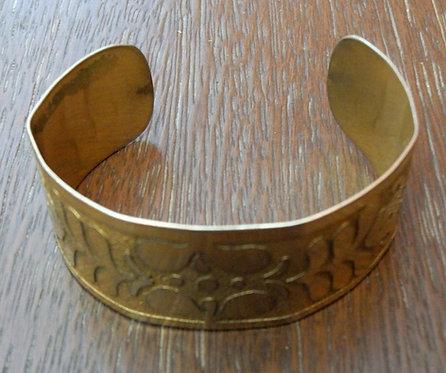 Bracelete em Cobre Desenhado