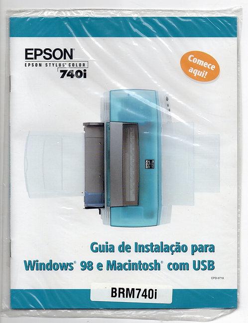 Guia de Instalação Epson Stylus Color 740i