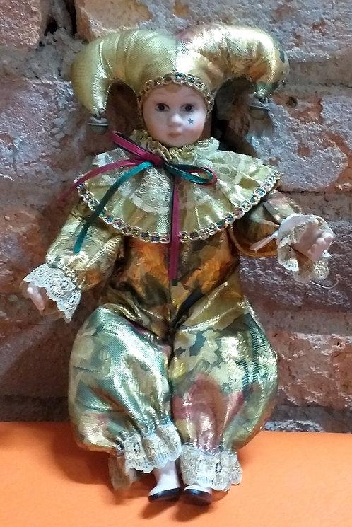 Boneco Típico do Carnaval de Veneza - Pierrot