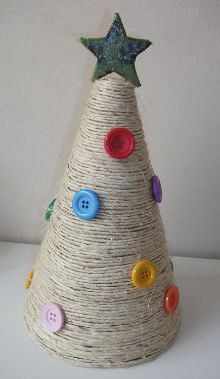 Árvore de Natal Sisal - MΔ2 Artesanato