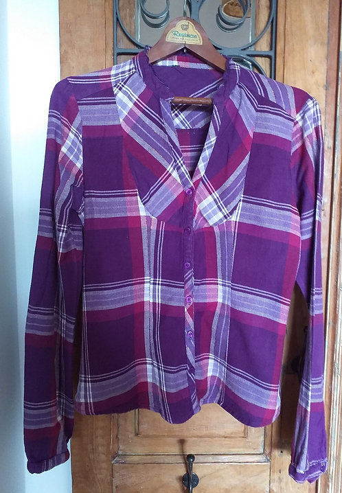 Camisa Flanela Babado