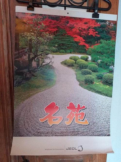Calendário 2019 JEOL - Famous Gardens