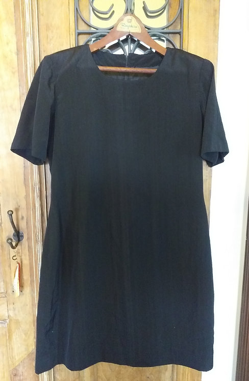 Vestido Seda Preto