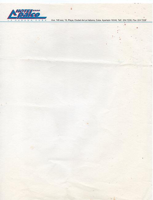 Papel de Carta Hotel Palco