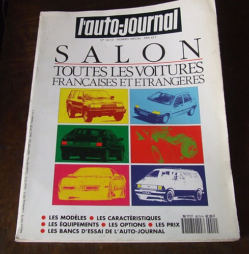 Revista L'Auto Journal Especial Salão de Paris 1990