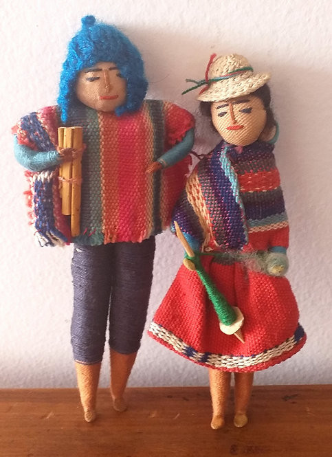 Bonecos - Casal Típico da Colômbia