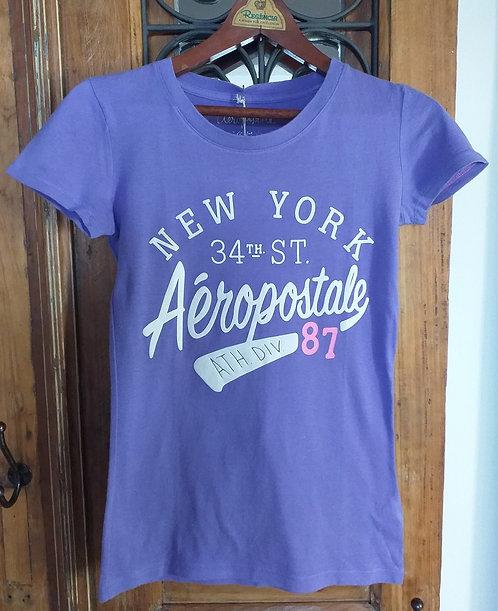 Camiseta Aeropostale  34th st Lilás