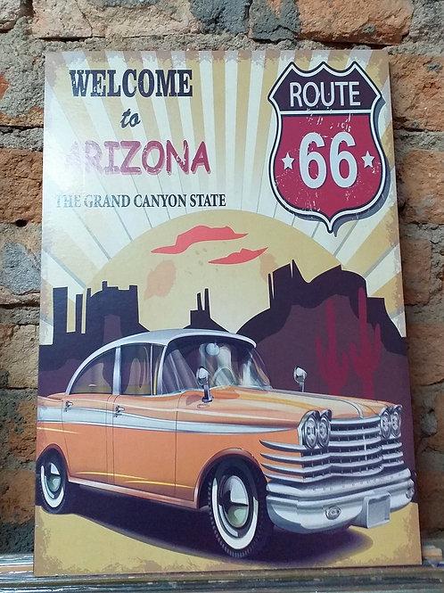 Placa MDF Welcome to Arizona