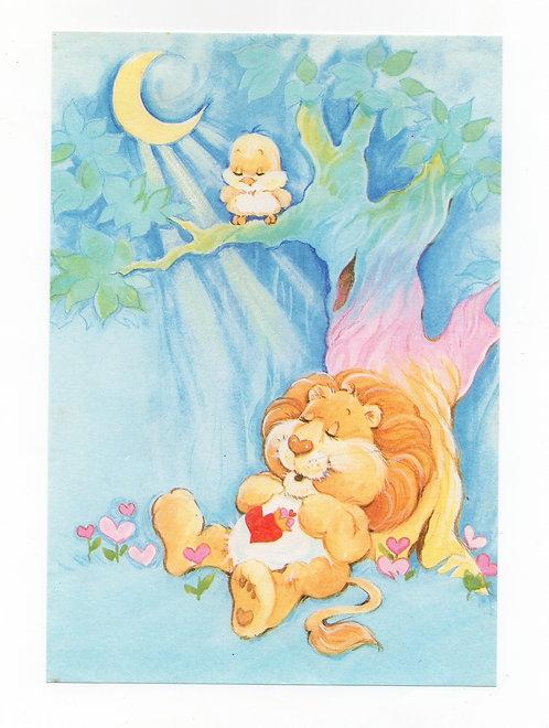 Papel de Carta Antigo Ursinhos Carinhosos Leão Valente