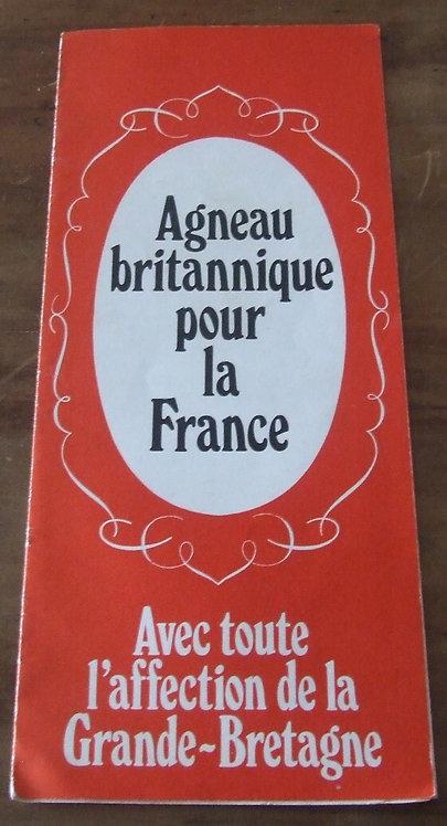 Receituário Antigo  Agneau Britannique pour la France