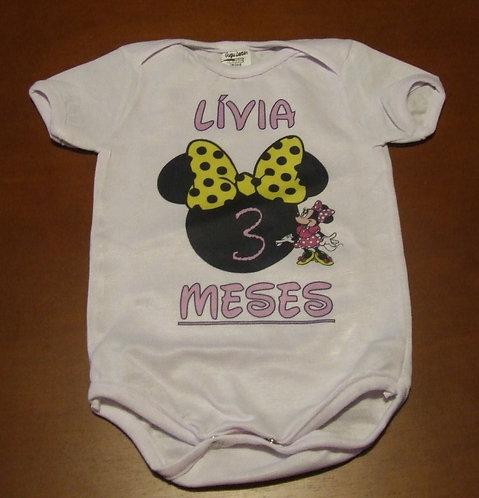 Body Minnie Lívia 3 Meses
