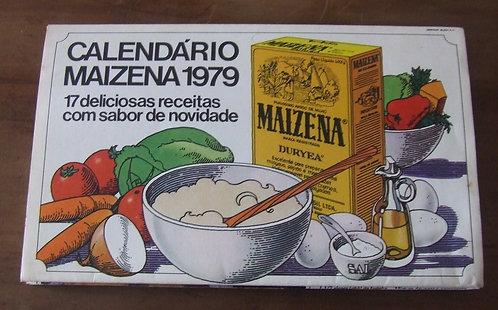 Receituário Antigo - Calendário Maizena 1979