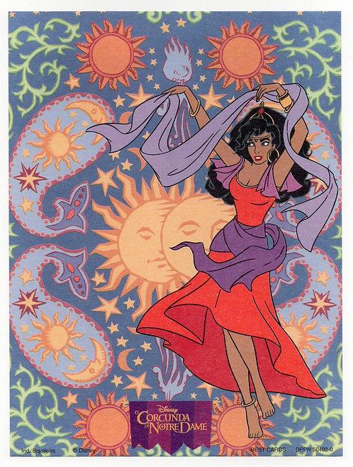 Papel de Carta Antigo Best Cards Disney Esmeralda