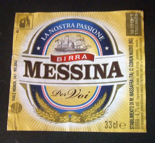 Rótulo Birra Messina
