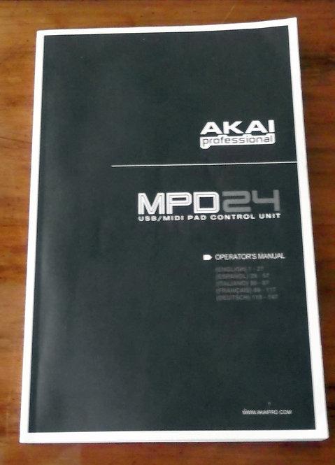 Manual de Operação do Akai Professional MPD24