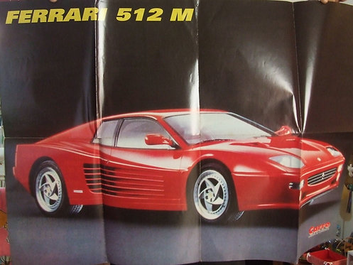 Superposter Ferrari 512 M