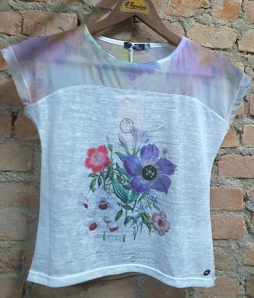 Camiseta Spezzato Teen Flores