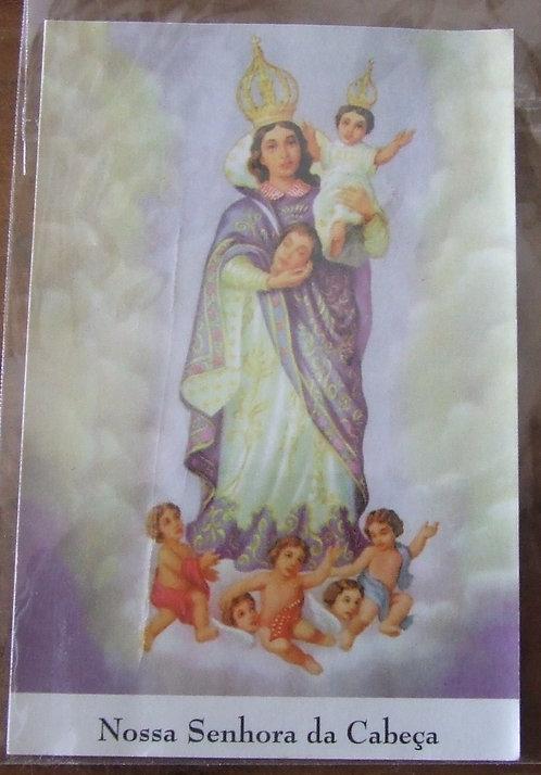 Santinho Nossa Senhora da Cabeça