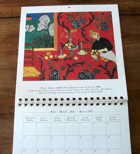 Calendário 2001 - Henri Matisse