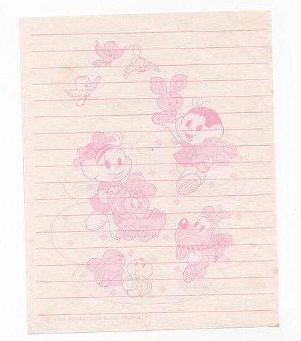 Papel de Carta Antigo Mini Turma da Mônica Babies