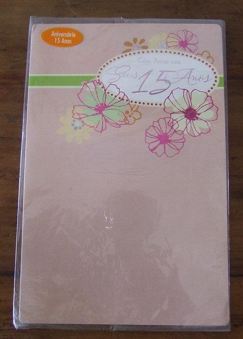 Cartão Aniversário 15 Anos