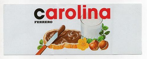 Adesivo Nutella Carolina