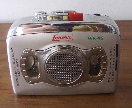 AM/FM Radio Mini Cassete recorder player Lenoxx WK-95