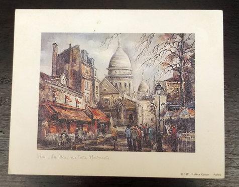 Gravura  Paris – La Place Du Tertre