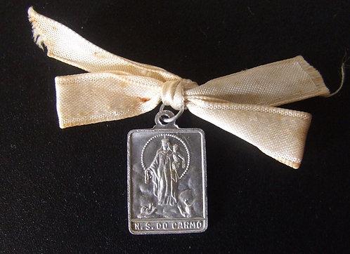 Medalha Antiga - Nossa Senhora do Carmo / Sagrado Coração de Jesus